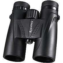Eyeskey compacto impermeable 8x 32/8x 42/10x 42prisma de techo prismáticos–opción ideal para caza Birding senderismo y al aire libre visión