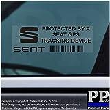Adhesivo de advertencia de dispositivo de seguimiento para coche o furgoneta, 87 x 30 mm, 5 unidades, texto en inglés