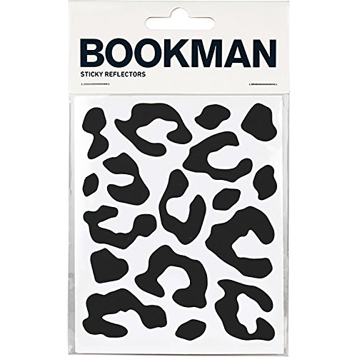 Bookman Sticky Reflectors Reflektierende Leoparden Sticker, Schwarz, One-size