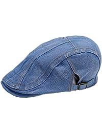 Fletion Unisex Denim Cappello Berretto Shading Flatcap Protezione Solare di  Svago Tappi d3baf808ff84