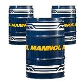 MANNOL 3 x 60 Liter Garagenfass, Defender 10W-40 API SL/CF