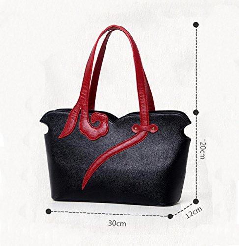 Chinesische Art Elegante Wilde Art Und Weisehandtaschen-Schulterbeutel-Diagonalpaket Black