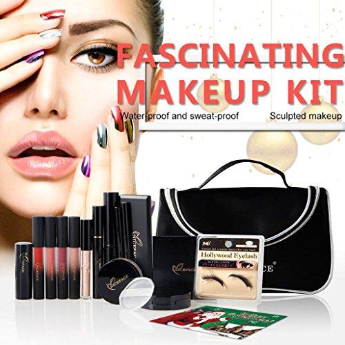 LHWY Navidad Kits De Maquillaje De Regalo Set Sombra De Ojos Marcador De LáPiz Labial Stick Mascara