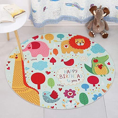 PX Home Wohnzimmer Teppich, Family Living Room Couchtisch Sofakissen Xco Feifei Round Carpet Lovely Cartoon Pattern rutschfeste Stuhl Matte Children\'s Game Pad Einfache Persönlichkeit Schlafzimmer Te