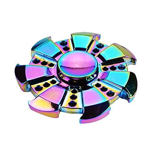 Preisvergleich Produktbild MUNION Fidget Toys Hand Spinner Finger Spielzeug für Kinder und Erwachsene Spielzeug Geschenke (Rainbow Fire Wheel)