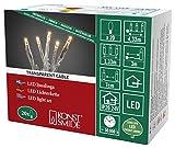 Konstsmide 6351-823 Micro LED Lichterkette/für Innen (IP20) / VDE geprüft / 24V Innentrafo / 20 bernsteinfarbene Dioden/transparentes Kabel