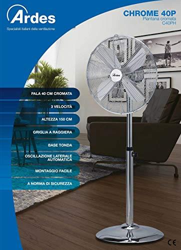 Zoom IMG-1 ardes 5c40ph ventilatore piantana 50