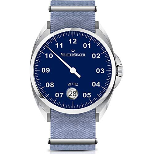 Meistersinger Metris Reloj de Hombre automático 38mm Correa de Nylon ME908