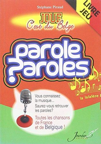 PAROLE, PAROLES - JOUE C'EST B par STEPHANIE PIRAUD