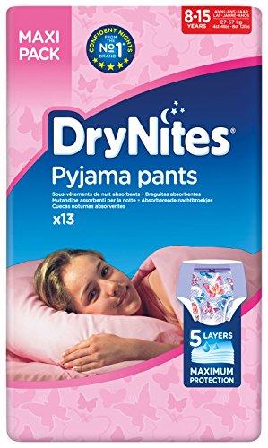 Drynites hochabsorbierende Pyjama Unterhosen, für Mädchen, Jumbo 8-15 Jahre, 2er Pack ( 2 x 13 Stück )