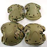 Sports Outdoors Best Deals - Outdoor Sports Tactical Combat Knee & Elbow Protective Pads Skate Knee Pads CP Camo