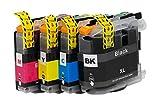 OBV Sparset 4x kompatible Tintenpatronen ersetzt Brother LC223 (Schwarz Cyan Magenta Gelb) für Brother DCP-J4120DW DCP-J562DW MFC-J480DW J680DW J880DW J4420DW J4620DW J4625DW J5320DW J5620DW J5625DW J5720DW