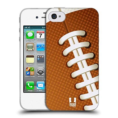 Head Case Designs Basketball Ball Kollektion Soft Gel Hülle für Apple iPhone 5 / 5s / SE Football