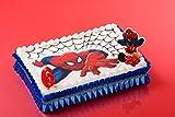 Forma Pane Azzimo Spiderman 26x 16cm–Decorazione per torta compleanno goûter–050