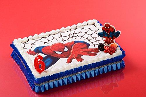Spiderman-Tortenaufleger 26 x 16 cm - Dekoration für Kuchen zum Geburtstag - 050