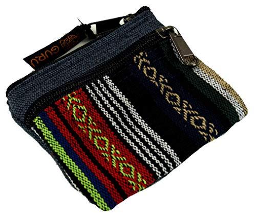 Guru-Shop Ethno Portemonnaie, Geldbeutel - Grau, Herren/Damen, Baumwolle, Size:One Size, 9x11 cm, Portemonnaies aus Stoff