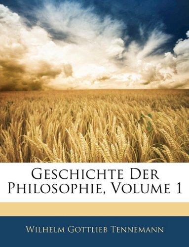 Geschichte der Philosophie, Erster Band