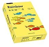 Papyrus 88042343 Drucker-/Kopierpapier farbig, Bastelpapier Rainbow: 80 g/m², A4 500 Blatt Buntpapier, Matt, Gelb