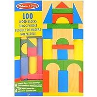 Melissa & Doug 100 Wood Building Blocks Set