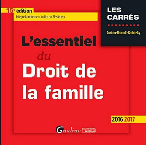 L'Essentiel du Droit de la famille 2016-2017