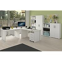 Möbel Pracht Phönix Büromöbel, Büro, Arbeitszimmer, Bürozimmer in weiß, Holz MDF, 8-Teilig