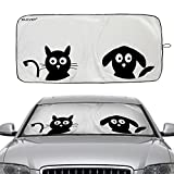 Car Windshield Sunshade, 2win2buy Cute Cartoon Design 59x33 inch Front Auto Car Folding