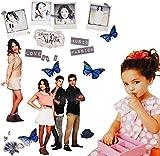 Unbekannt 18 Stück: Wandsticker -  Disney Violetta  - selbstklebend + wiederverwendbar - Aufkleber für Kinderzimmer - Wandtattoo / Sticker Kinder - Mädchen / Martina ..