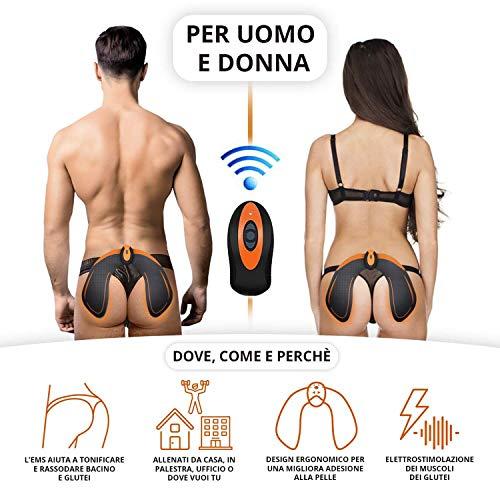 ZHENROG EMS Hips Electroestimulador Muscular, Gluteos Estimulador de Glúteos Herramientas Nalgas HipTrainer para la Cadera Mujer USB Recargable, Estimulador Muscular Ejercitar Gluteos,  Hombre y Mujer