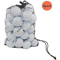 CZ-XING Golftasche mit Nylon-Netz, Tasche für Golf, Tennis, 45 Bälle, Tragetasche, Aufbewahrung, Golfballtasche, 4 x Golfball-Netztasche