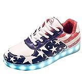 Gaorui Damen LED-Licht Leuchten Sneakers Stern Fluorescence Sportschuhe mit USB 7 Farbe