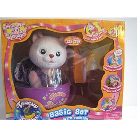 Teacup Kitties Basic Set with Fashion Zsa Zsa by Toy Teck Limited - Kitty Teacup