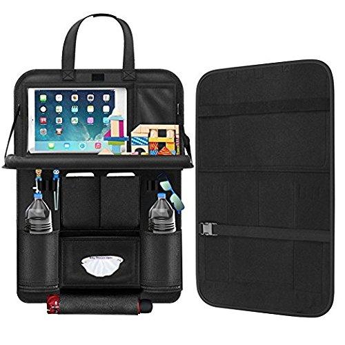 Rückenlehnenschutz, Autositz Organizer mit Auto Essbereich Auto Organizer Screen Touchable Tablet Halter, Kinder Rücksitzschoner Kick-Matten-Schutz passend für die meisten den Autositz, 1PC