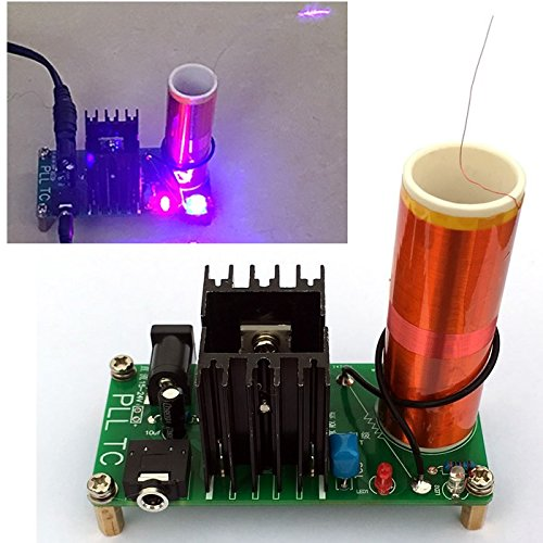 dikavs DIY Mini Kit 15W Mini Musik Tesla Tesla Coil Plasma Lautsprecher Tesla Kabellose Übertragung DC 15-24V