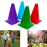 Dazzling Toys Assorted Colors Plastic Soft Traffic Cones - 24 Pack (D077/2)