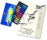 Faber-Castell Creative Studio Softpastellkreiden + hochwertiger A4 Skizzenblock