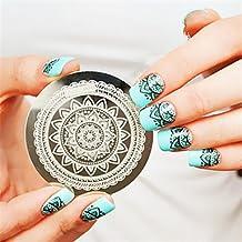 WZW plena flor de diseño de uñas uñas arte del sello de placa imagen de la plantilla plantilla de estampar arte del clavo de la decoración