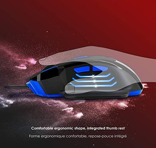 EMPIRE GAMING - Nouveau - Souris gamer filaire Hellhounds gamers - 7200 DPI - 7 boutons programmables avec Logiciel - Rétro-éclairage RGB - ... 10
