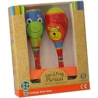 Orange Tree Toys - Lion and Frog Wooden Maracas