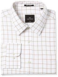 Park Avenue Mens Formal Shirt (8907663201312_PMSX09681-F2_Light Fawn_44)