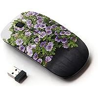 ARTECH [ Mouse Senza Fili Ottico 2.4G ] [ Petunia Planters Green White Background ]