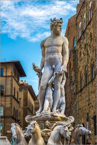 Poster 61 x 91 cm: Neptun in Florenz von Editors Choice - hochwertiger Kunstdruck, neues Kunstposter
