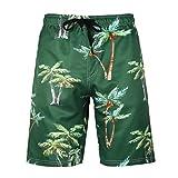 MOTOCO Herren Badehose Sommer Herren Printed Shorts Lässige Shorts Hosen Badehose Kleidung Urlaub Kleidung Strandhosen(4XL,Armeegrün)