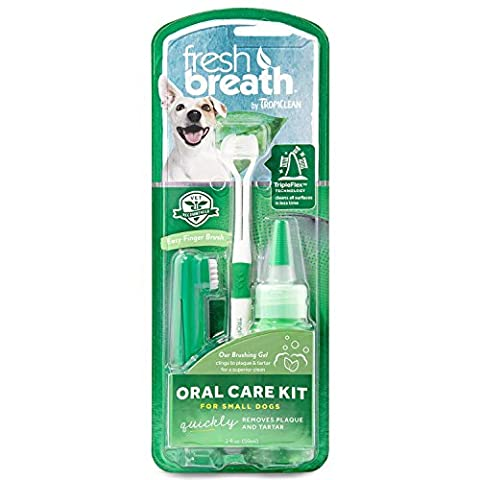 Tropiclean Fresh Breath Oral Care Kit for Dogs, Small