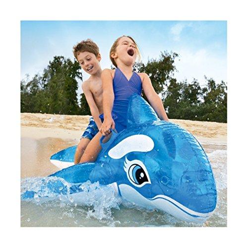 Trade shop traesio® orca cavalcabile gioco gonfiabile per bambini 152x144cm mare piscina blu