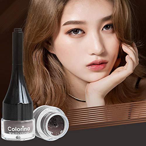 Colorina Air Cushion - Crema para cejas, gel para los ojos, máscara de larga duración, impermeable y resistente al sudor, cejas naturales fáciles de colorear