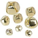 300pcs Piccole Campanelle Campane Oro in Metallo Campanellini Natalizi Jingle Bells per DIY Gioielli o Decorazione di Natale (10mm+15mm+20mm)