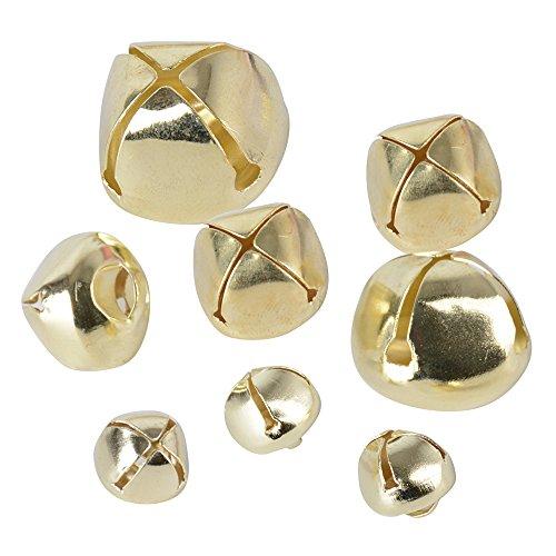 +20mm Glöckchen Schellen Basteln Anänger kleinen Glocken Schellen Jingle Bells mit Öse aus Metall für Schmuckherstellung Weihnachten Dekoration DIY ()