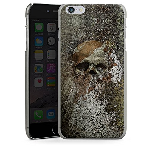 Apple iPhone X Silikon Hülle Case Schutzhülle Skull Totenkopf Bones Hard Case anthrazit-klar