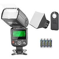 Neewer Kit di Flash Speedlite TTL NW-670 per Canon, con Wireless Telecomando a Infrarossi, Batteria AA, Diffusore , per Canon 7D Mark II, 5D Mark II, III, IV, 1300D, 1200D, 1100D, 650D, 550D, 80D, 70D