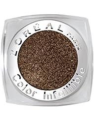 L'Oréal Paris Color Indefectible Eyeshadow, 12 Endless Chocolat, Mono Lidschatten Mono Lidschatten für extra lang anhaltende Farbe und funkelnden Glanz - 1er Pack (1 x 3,5g)